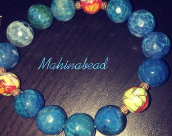 Authentic beads representing the moon and the renewal of energy