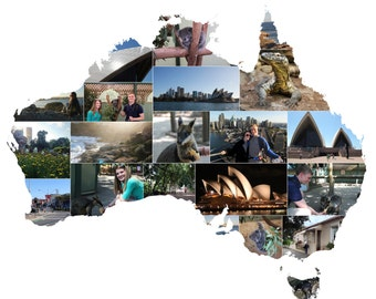 Custom Country Collage Print
