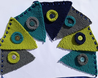 Bunting - 7 Pennant Knitted Bunting