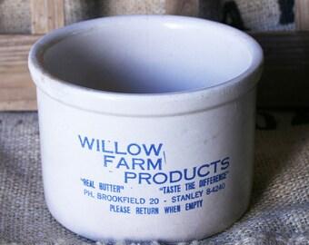 American Vintage Stoneware Butter Crock