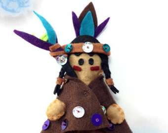 "Tatum ""The Apache"" felt doll"