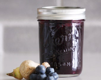 Organic Blueberry With Honey And Ginger Marmalade | Jam 8 fl. oz., homemade and sweet