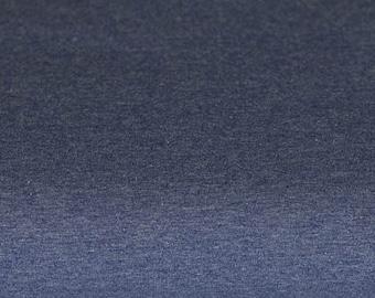 Jersey uni jeans blue