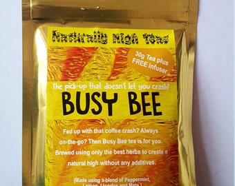 Herbal Tea Blend -  Organic Herbs - Busy Bee Tea - herb infuser included - 30grams