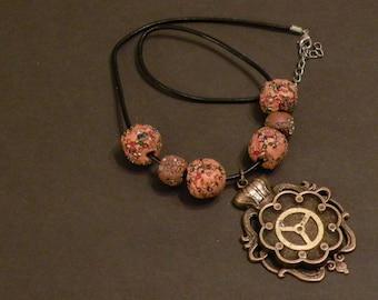 Steampunk jewelry - necklace - Simple Swirls