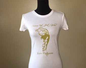 White and Gold Masterpieces Fitted Tee