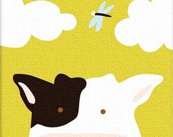 Cow cross stitch pdf file animals cross stitch colored pdf pattern instant download