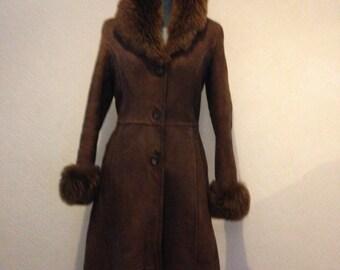 Vintage Sheepskin full leanth coat.