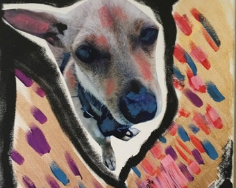 Giorgio I Chihuahua mixed media artwork