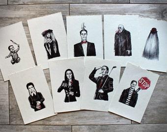 Addams Family Values (Ballpoint Fan Art Set)