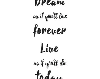 Dream... Typographic Digital Print