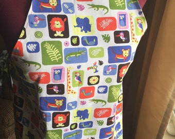 Wild Animals Apron Size 2-4 years or 4+ years