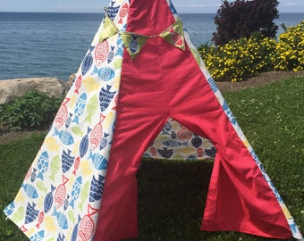 Teepee, nautical teepee, wigwam , kids play tent