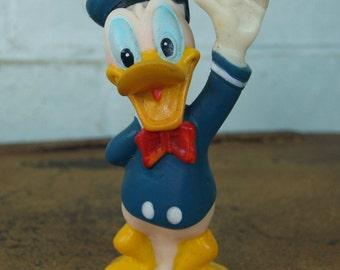 Vintage Small Rubber Donald Duck - Walt Disney