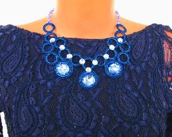 "Колье ""Синий блеск"" - Украшение на шею Necklace ""Blue shine"" - on the neck jewelery"