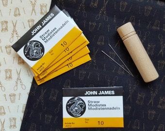 John James Straw Needles, Size 10, Milliner Needles