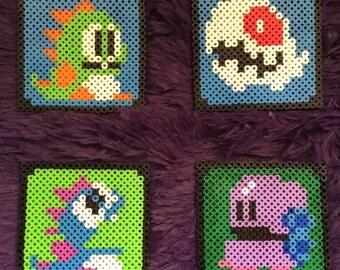 Bubble Bobble 8-Bit Coasters perler hama beads