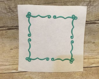 Fancy Frame Embroidery Design, Frame Applique