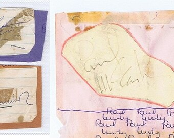 Paul McCartney, George Harrison & Ringo Starr [The Beatles] Autographs