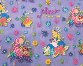Alice in Wonderland Woven Cotton Fabric - By the Yard