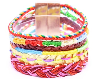 Brazilian Bracelet - Multi Layer Bracelet - Wrap Bracelet - Woman Bracelet - Multi Color Bracelet - Summer bracelet - Friendship Bracelets