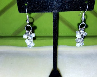 Pearl & Crystal Dangle Earrings