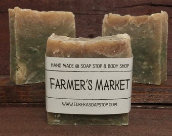 Handmade Hot Process Farmer's Market Soap - One Bar