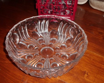 Lovely RETRO heavy glass bowl
