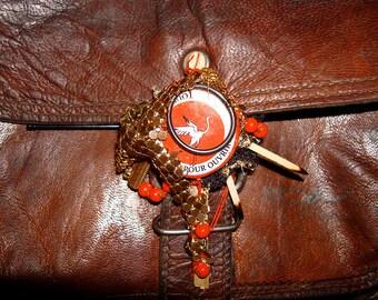 Bag Clasp Brooch