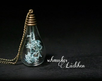 "Necklace glass vial ""Moss"""