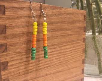 Citrus colored drop earrings