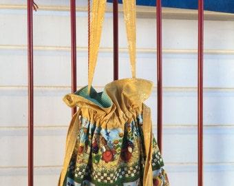 Handmade Country Drawstring Bag