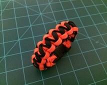 Paracord Survival Bracelet Stitched Pattern Halloween Theme Blacklight Reactive