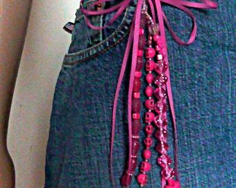 Dice Keychain (pink)