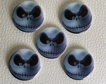 JACK SKELLINGTON BUTTONS x 5