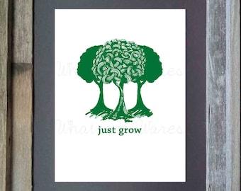 Just Grow- Trees Printable