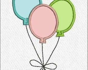 Balloons Applique 3 sizes