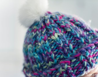 Chunky Mermaid Knitted Cap