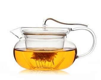High temperature resistant glass tea cup glass teapot  by hand 450mL