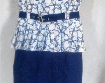 Lovely Blue Corporate Dress with Collar