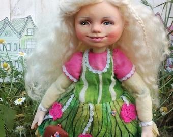Flower art doll