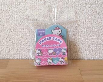 Sanrio Hello Kitty heart washi paper tape 1roll 5m(16.4')