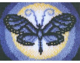 Wonderart Latch hook Kit 15X20-Blue Butterfly