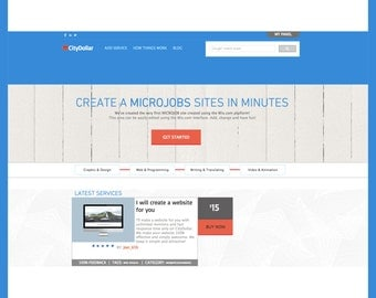 PreMade website style theme | Wix Template | Service Provider - JobS - Services - Microjob provider