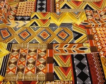 Tribal Fabric African Fabric Geometric Fabric African Clothing Fabric Dress Fabric Curtain Fabric Pillow Fabric Cotton Fabric Doll Fabric
