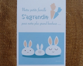 Birth Announcements Rabbit
