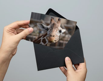 Cute Giraffe Greeting Card