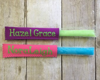 Ice Pop Holder - Ice Pop Sleeve - Freezer Pop Holder -  Freezer Pop Sleeve - Perfect for Party Favors