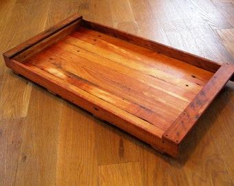 Serving tray from reclaimed lath - old wood from 1905 or older, carefully build to 'latht' another lifetime