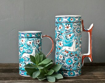 grecian pottery, mug or stein